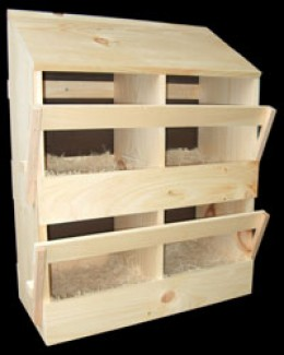 4 hole chicken nesting box