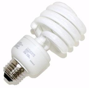 A standard hot cathode compact fluorescent light bulb.