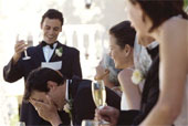 The best man is the closest friend and/or relative of the groom. There may be two.
