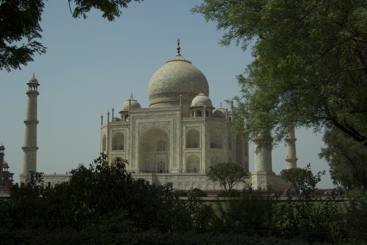 The Taj Mahal from the South East side of the grounds