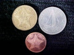 These colorful coins are dated 1966, 1991 and 1992