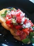 Tomato Bruschetta - Tomato Fresca with Basil, in Green Onion and Lemon