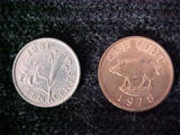 These two coins are from Bermuda and dated 1981 and 1978