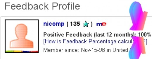 I am the King of eBay, as witnessed by my 100% rating.