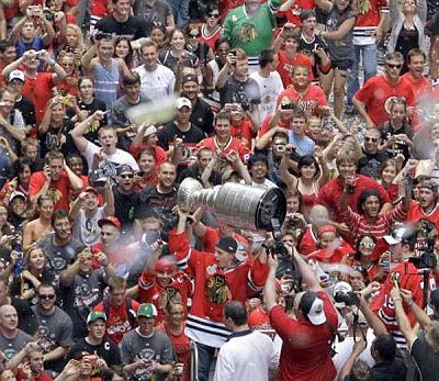 Fans Celebrating The Cup With Their Team.