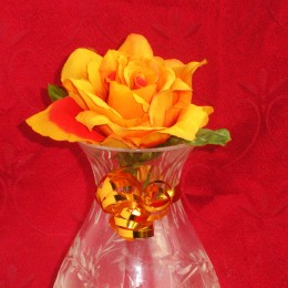 Use curling ribbon to decorate vases