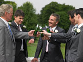 Ushers and groomsmen are one and the same!