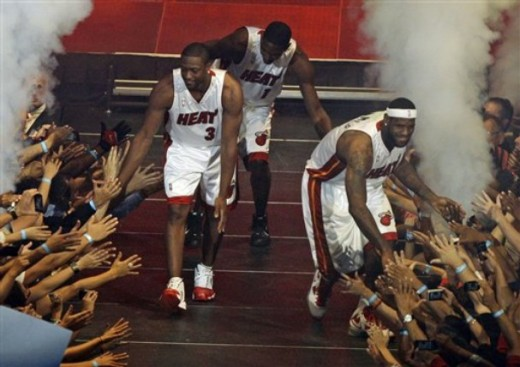 The Miami Heat with Dwayne Wade, LeBron James and Chris Bosh have high expectations