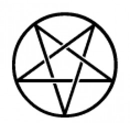 An inverted pentacle