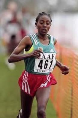 Gete Wami of Ethiopia, Marathon runner.