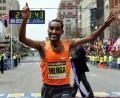 Deriba Merga of Ethiopia wins the Boston Marathon