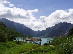 Lake at the crater of Mount Pinatubo, Philippines