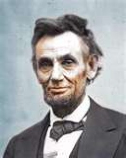 President Abraham Lincoln   royalty free photo