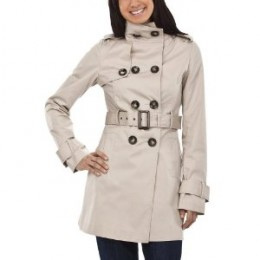 Amazon.com - Coffee Shop Belted Twill Long Trench Coat