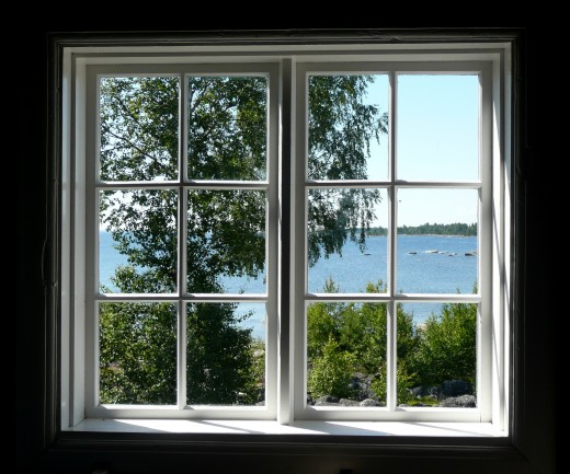 Bare windows can be nice when you have a nice view, but you may need roller shades during night time or if you need privacy.