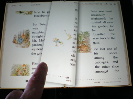 Turning pages on the iPad looks like the real thing and the colors jump off the page