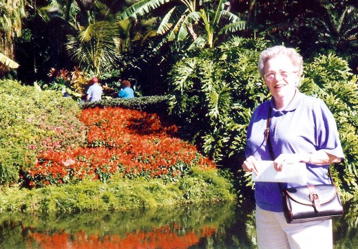 My mother at Cypress Gardens
