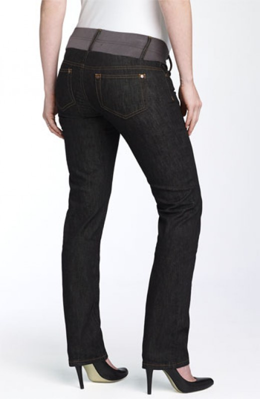 Belt Band Maternity Jeans