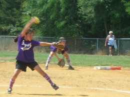 Christina D'Amodio gets set to uncork a pitch for the Stafford Stingrays 10U fastpitch softball squad. D'Amodio also plays for the Waretown Thunder.