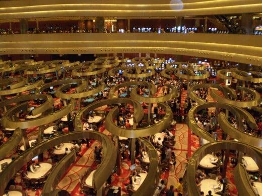 Inside the Marina Bay Sands casino.