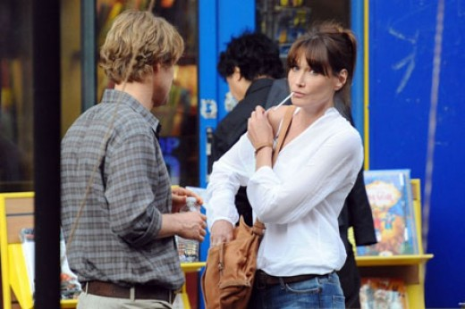 Carla Bruni and Owen Wilson