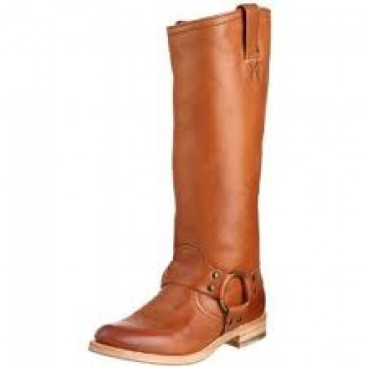 Frye harness boot in light grey