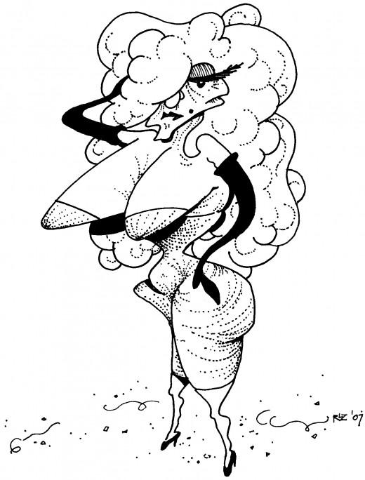 Aging Stripper Tonya Torpedos,  rickzimmerman 2010