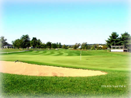 A view of the 18th green at the Rail Golf Course in Springfield. Picture courtesy of www.railgolf.com