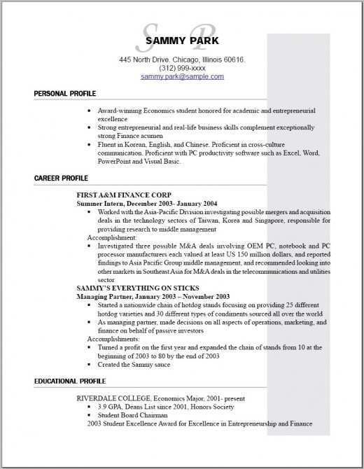 Grad School Resume Pdf Resume Writing  How To Make Your Resume Stand Out  Hubpages Special Skills Acting Resume Excel with National Resume Writers Association Word Sample Of An Entry Level Resume For Someone With  Years Experience Marketing Skills For Resume