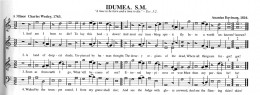 An example of shape note music from the Sacred Harp tradition.