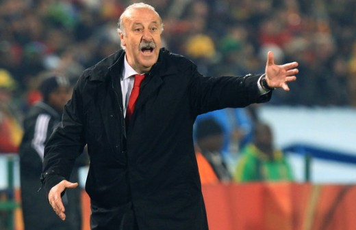 Spanish Coach Vicente del Bosque during the final match
