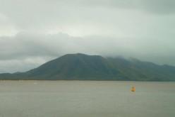 Mountain views across the bay