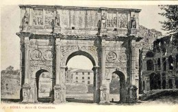 The Arch of Constantine seen from Via Triumphalis