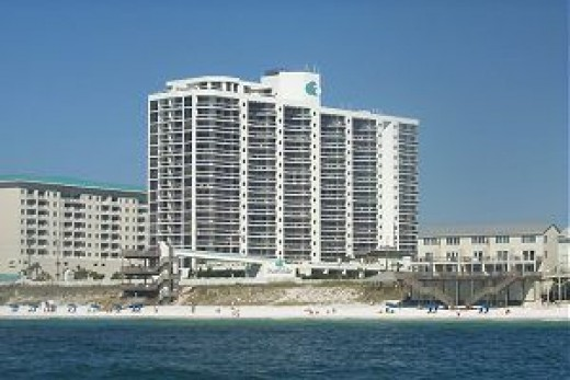 One of the beachfront Destin resorts.