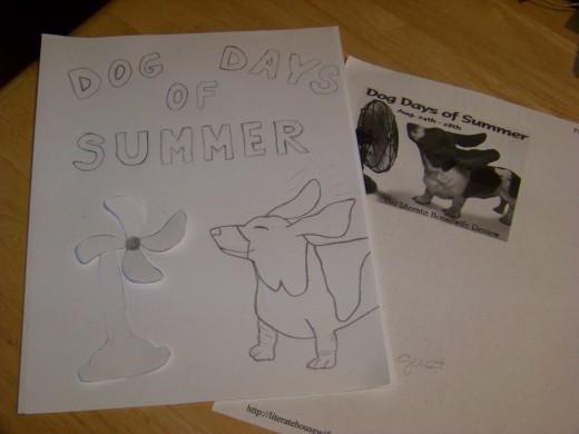 Dog Days of Summer Door Sign