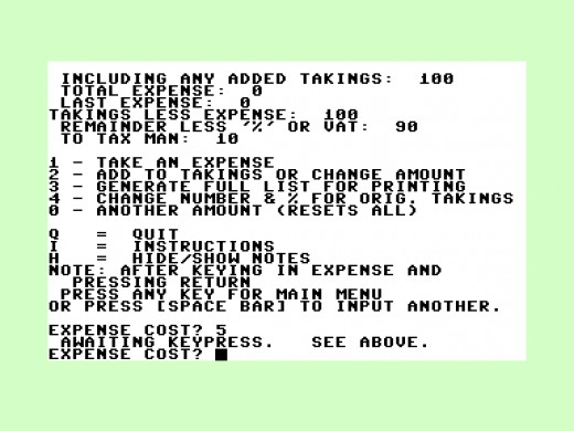 A commodore 16 program.  The 80's were simpler days, even if things were BASIC!