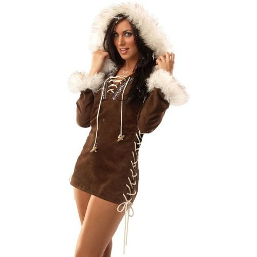 warm your man up with this sexy Eskimo womens halloweencostume