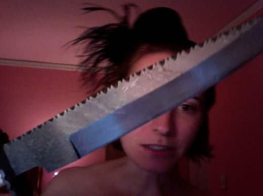 DON'T strut about with oversized knives.  That is SO last century.
