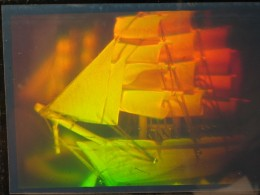 The true scope of a hologram cannot be duplicated here other than to show what one looks like from a 2D point of view.
