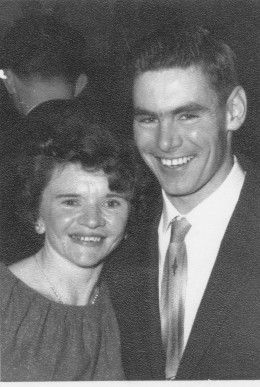 My wife and I in 1959