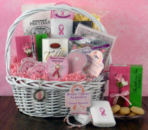 Gift basket for breast cancer victims or survivors by All About Gifts & Baskets