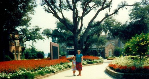 My niece and me at Bellingrath Gardens