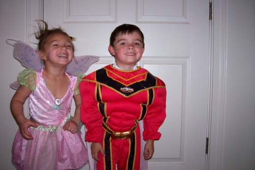 One of our kids superhero costumes.