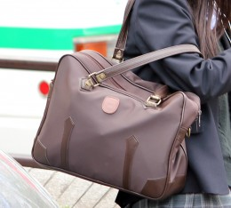 A typical Japanese school bag. Think big. Think plain.