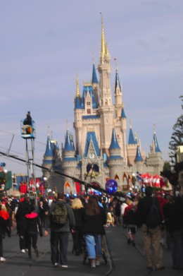 Big crowds, bad idea: avoid special events in the daytime that can lure huge crowds because it can cause screaming meltdowns. This photo was taken at one of the tapings of a televised event at the Magic Kingdom and it was CRAZY!