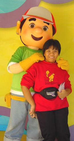 Sure, Handy Manny is a human, but he's a fur character that can intimidate many a child, especially one with autism. Just don't force yours to meeting characters of his ilk.