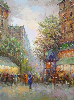 Paris Streets, by Edward Morgan    from http://www.impressionists-oil-paintings.com/paris.html