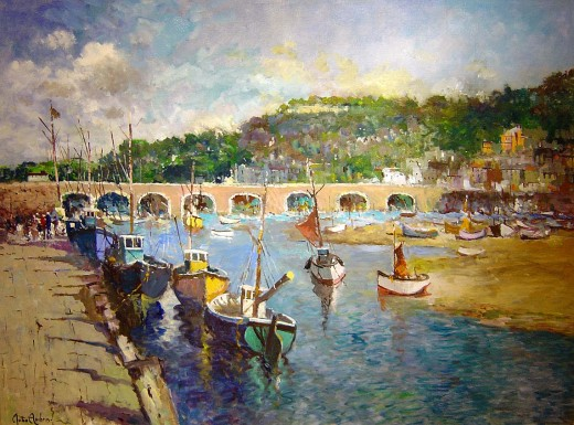 West-Loop Cornwall, by John Ambrose, from the site http://www.impressionists-oil-paintings.com