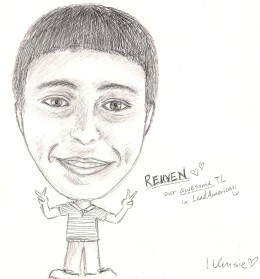 Summer 2008. I am a TL (Team Leader) at the conference. One of my students draw my portrait.