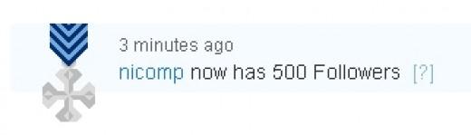 Wooo Hoo!! 500!!